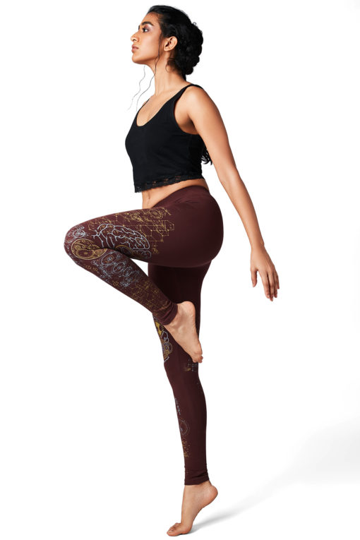 Yoga Pants Brain Maroon